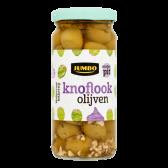 Jumbo Garlic olives without seeds