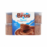Bros Mousse milk chocolate with chocolate sauce (only available within Europe)