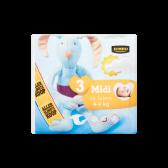 Jumbo 3 Mini 4-9 kg diapers