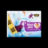 Jumbo 4+ Maxi plus 9-20 kg diapers large