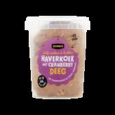 Jumbo Haverkoek met veenbessen deeg (voor uw eigen risico)