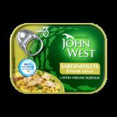John West Graatloze sardinefilets in extra vergine olijfolie