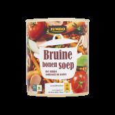 Jumbo Bruine bonensoep met stukjes rookworst en wortel