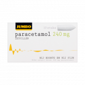 Jumbo Paracetamol zetpillen 240 mg