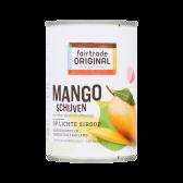 Fair Trade Original Mango slices on light syrup