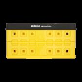 Jumbo Boodschappenkrat geel zwart max 30 kg