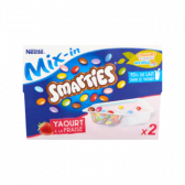 Nestle Smarties mix-in yoghurt with strawberry (at your own risk, no refunds applicable)
