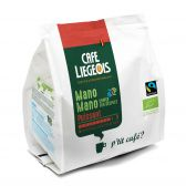 Cafe Liegeois Mano Organic puissant coffee pods fair trade