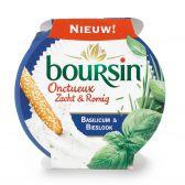Boursin Zacht en romig basilicum en bieslook