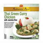 Authentic Asia Chicken green curry jasmin rice