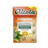 Ricola Sugar free orange mint herb pastilles