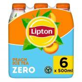 Lipton Ijsthee perzik suikervrij 6-pack