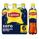Lipton Ijsthee suikervrij bruisend 6-pack