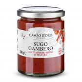 Campo d'Oro Red prawns with tomato sauce from Mazara