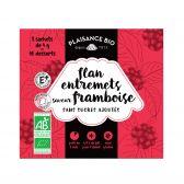 Plaisance Organic flan raspberry mix fair trade