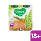 Olvarit Peas, turkey and rice 2-pack (from 18 months)