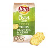 Lays Oven knapperige dunne olijven en kruiden chips