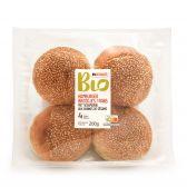 Delhaize Biologische hamburgerbroodjes met sesamtopping