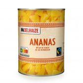 Delhaize Ananas stukjes op sap fair trade