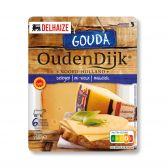 Delhaize Oudendijkse belegen Gouda kaas plakken