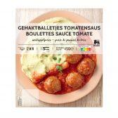 Delhaize Gehaktballetjes in tomatensaus (voor uw eigen risico, geen restitutie mogelijk)