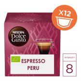 Nescafe Dolce gusto Peru organic coffee caps