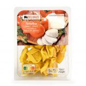 Delhaize Tortelloni met tomaat en mozzarella (voor uw eigen risico, geen restitutie mogelijk)
