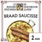 De Vegetarische Slager Braad saucisse (voor uw eigen risico, geen restitutie mogelijk)