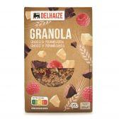 Delhaize Granola met chocolade en framboos