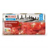 Delhaize Gepelde tomaten blokjes 3-pack