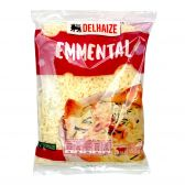 Delhaize Geraspte Emmental kaas klein (voor uw eigen risico, geen restitutie mogelijk)