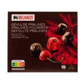 Delhaize Gevulde chocolade pralines met kersen likeur