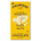 Meurisse Organic ecological milk chocolate roasted hazelnuts fair trade