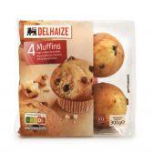 Delhaize Vanille muffins met stukjes chocolade