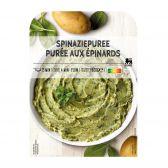 Delhaize Puree met spinazie (voor uw eigen risico, geen restitutie mogelijk)