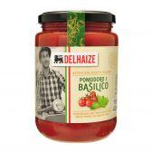 Delhaize Kerstomaten saus met basilicum