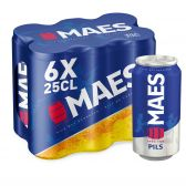 Maes Blond pils beer