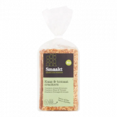 Smaakt Organic cheese and tomato crackers