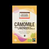 Fair Trade Original Organic camomile tea with lavender and vanilla