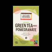 Fair Trade Original Organic green tea with pomegranate
