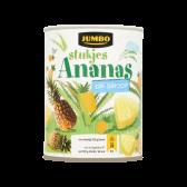 Jumbo Ananas stukjes op siroop groot