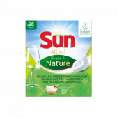 Sun All in 1 vaatwastabletten powered by nature