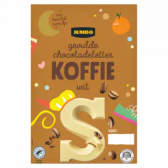 Jumbo Witte chocoladeletter S met koffie smaak