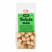 Jumbo Salademix zonnebloempitten, geroosterde pijnboompitten & croutons knoflook en kruiden
