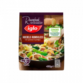Iglo Noodles with beef, spinach and sugar peas (only available within Europe)