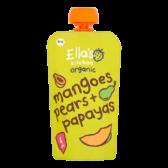 Ella's Kitchen Biologische mango's, peren en papaja's (vanaf 4 maanden)
