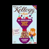 Kellogg's WK door kinderen suikervrije blauwe bessen, appel en rode biet