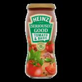 Heinz Tomaten en basilicum pastasaus