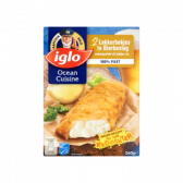 Iglo Fried fish in beer preparation (only available within Europe)