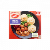 Iglo Swedish balls with mashed potatoes (only available within Europe)